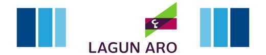 logotipo seguros lagun aro abascal